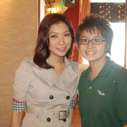 2009/08/21 主播 朱凱婷 Heidi Chu interview at Van Gogh Kitchen