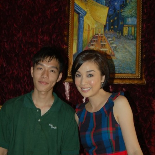2010/08/04 江美儀 Mei Yee Kong visited Van Gogh Kitchen